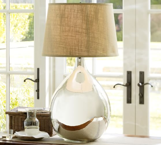 clift oversized mercury glass table lamp pottery barn. Black Bedroom Furniture Sets. Home Design Ideas