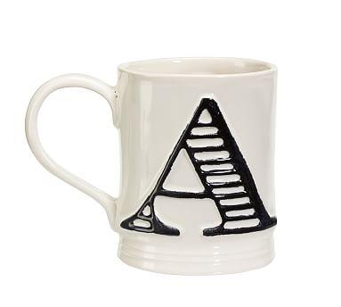 Embossed Alphabet Mugs Pottery Barn