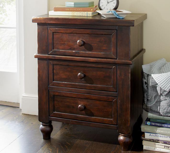 cortona bedside table pottery barn bed side furniture
