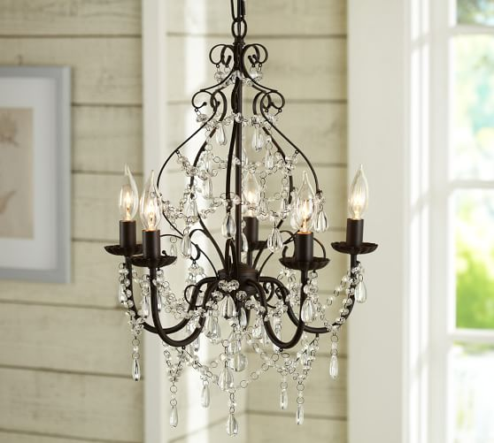 Pottery Barn Jasmine Glass Chandelier: Paige Crystal Chandelier