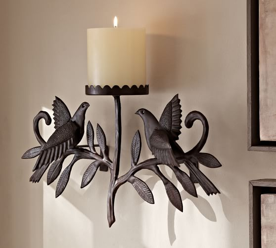 Pottery Barn Wall Sconces For Candles : Bronze Bird Candle Sconce Pottery Barn