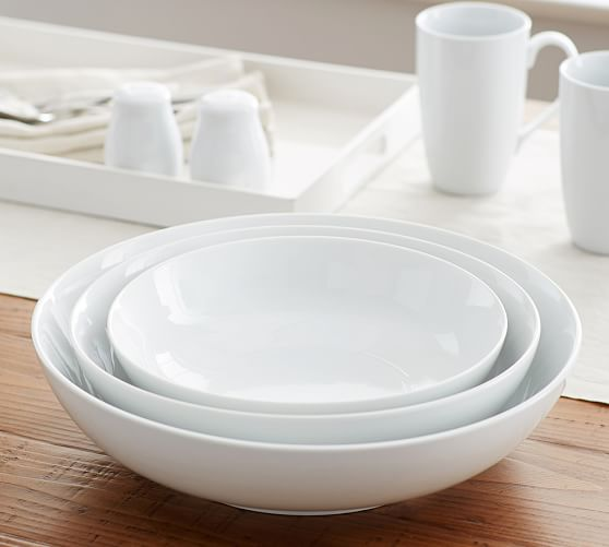 Great White Coupe Serving Bowls Pottery Barn