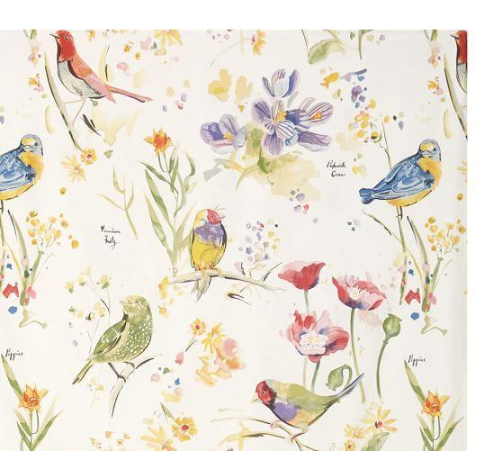 Painterly Bird Bedding Swatch Pottery Barn