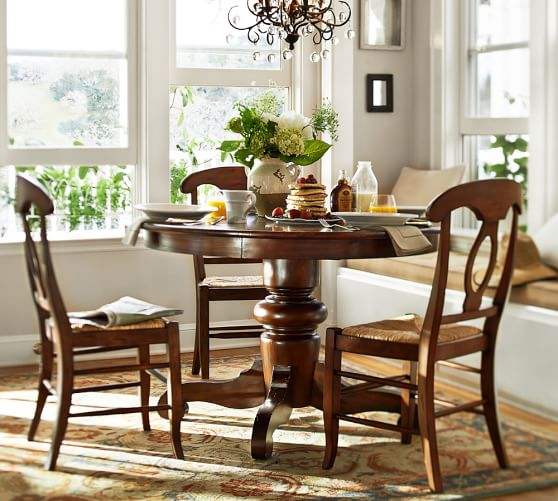 pedestal table napoleon chair 5 piece dining set pottery barn