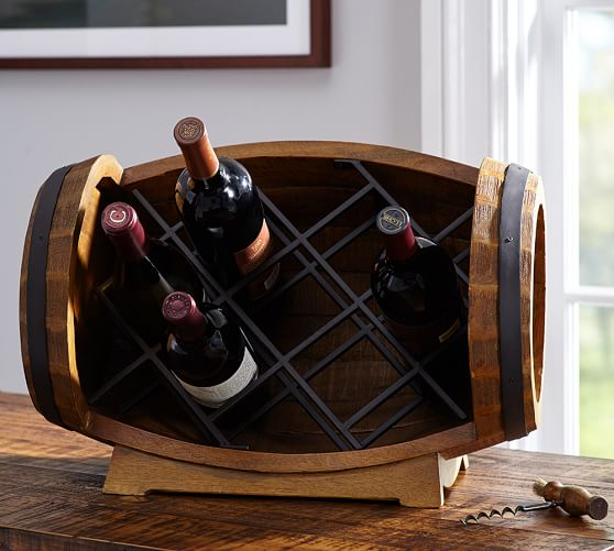 how to make a glass top wine barrel table