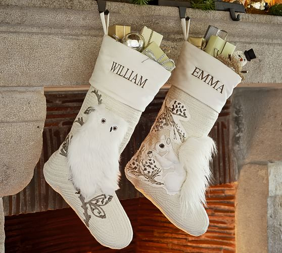Woodland Stockings Pottery Barn