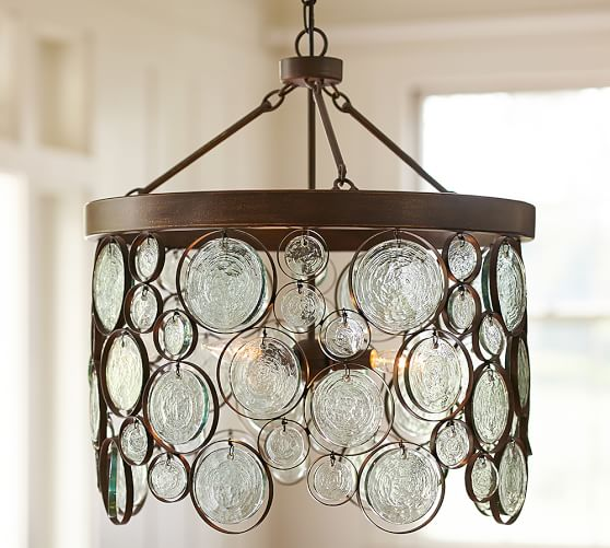 Patio Lights Pottery Barn: Emery Indoor/Outdoor Recycled Glass Chandelier
