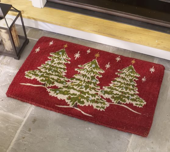 Christmas Tree Doormat Pottery Barn