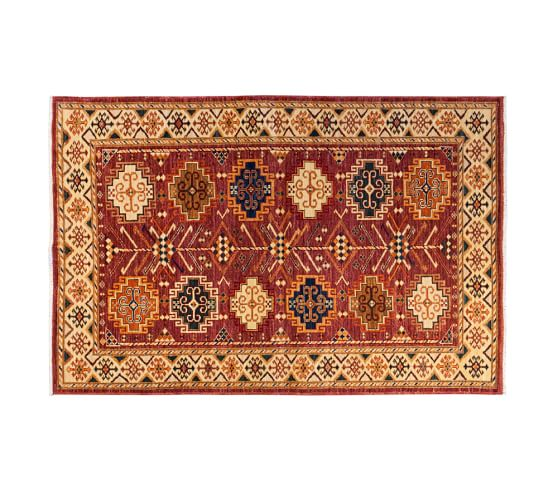 arzu studio hope symmetry hand knotted rug pottery barn