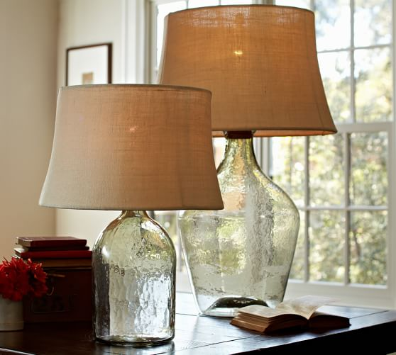 clift glass table lamp base clear pottery barn. Black Bedroom Furniture Sets. Home Design Ideas