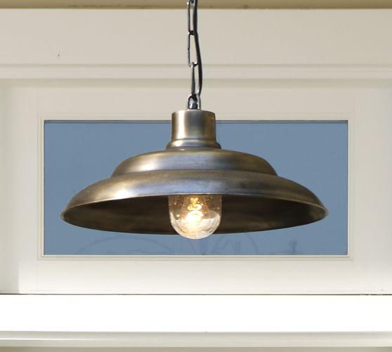 Pottery Barn Carriage Lamp: Barnham Indoor/Outdoor Pendant
