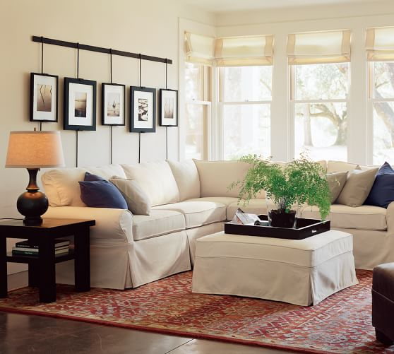 Going Coastal Pottery Barn Part I: PB Basic Sectional Component Slipcovers