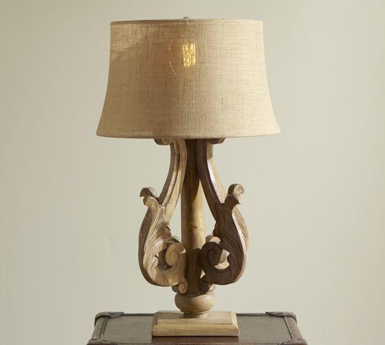 catherine table lamp base pottery barn. Black Bedroom Furniture Sets. Home Design Ideas