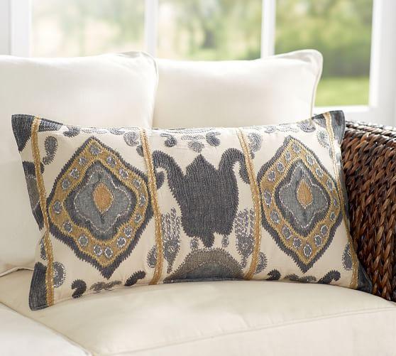 Chiara Ikat Lumbar Pillow Cover
