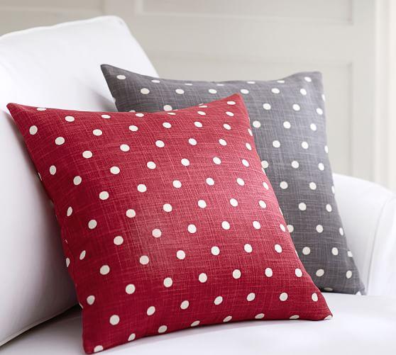 polka dot pillow cover pottery barn. Black Bedroom Furniture Sets. Home Design Ideas