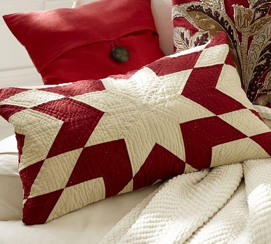 Starburst Quilt Lumbar Pillow Cover Pottery Barn