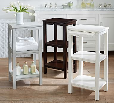 classic small space floor storage pottery barn