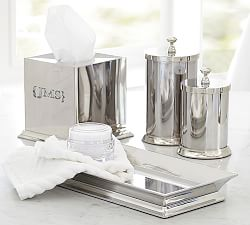 Bathroom canisters accessories pottery barn for Bath countertop accessories