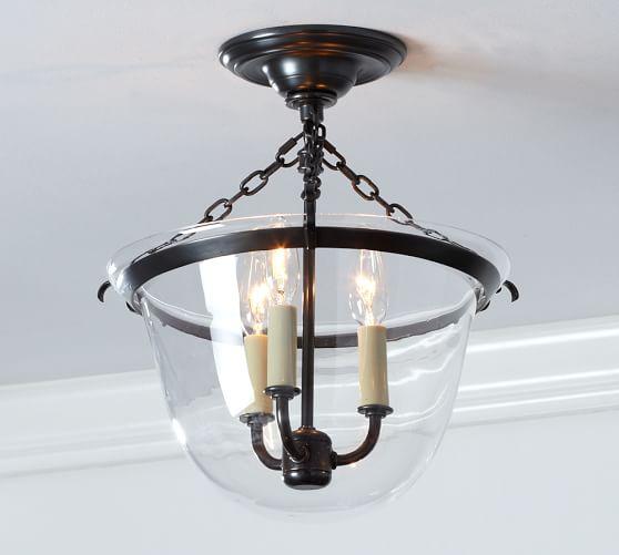 Pottery Barn Ceiling Light Fixtures: Hundi Flushmount