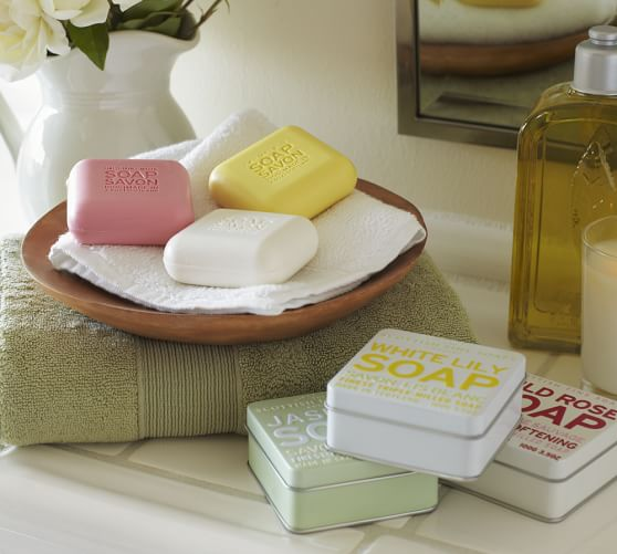 scottish fine soaps soap in a tin pottery barn. Black Bedroom Furniture Sets. Home Design Ideas