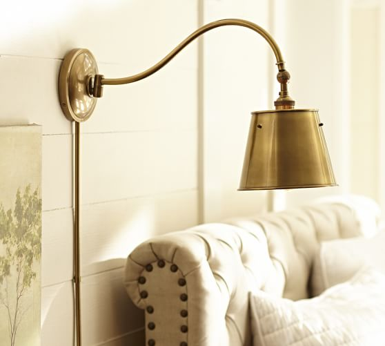 Plug In Wall Sconces Pottery Barn : Walker Sconce Pottery Barn