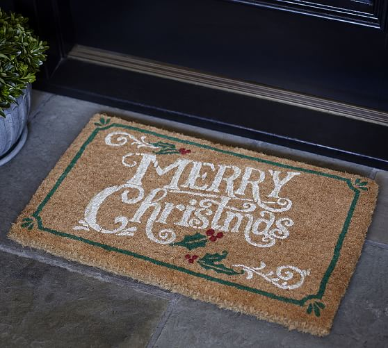 Merry Christmas Doormat Pottery Barn