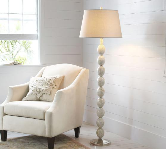 jolie mother of pearl floor lamp base pottery barn. Black Bedroom Furniture Sets. Home Design Ideas