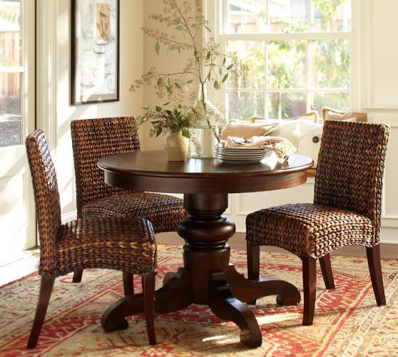 Pottery Barn Montego Chairs: Tivoli Fixed Pedestal Dining Table