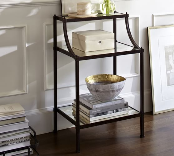 etagere bedside table pottery barn