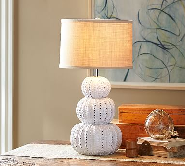Ceramic Urchin Table Lamp Base Pottery Barn