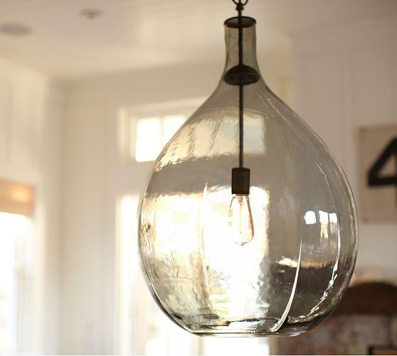 Pottery Barn Glass Pendant: Clift Oversized Glass Pendant