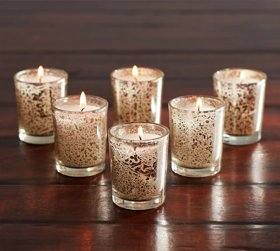 mercury glass votive candle pottery barn. Black Bedroom Furniture Sets. Home Design Ideas