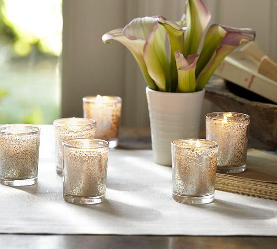 Mercury Glass Votive Candle Pottery Barn