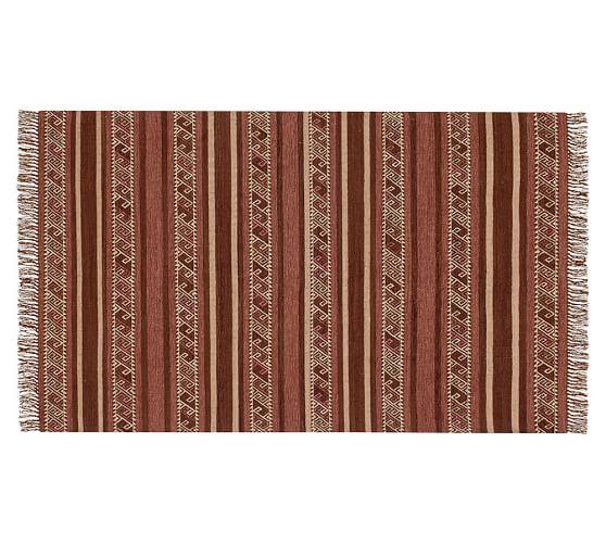 Cornwall Stripe Kilim Recycled Yarn Indoor Outdoor Rug