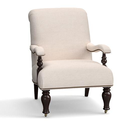 harlan upholstered chair pottery barn. Black Bedroom Furniture Sets. Home Design Ideas