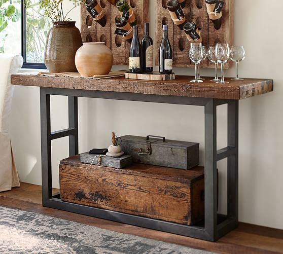 Griffin reclaimed wood console table pottery barn