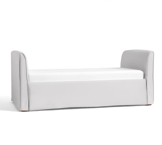 Lewis Daybed Slipcover, Twill White