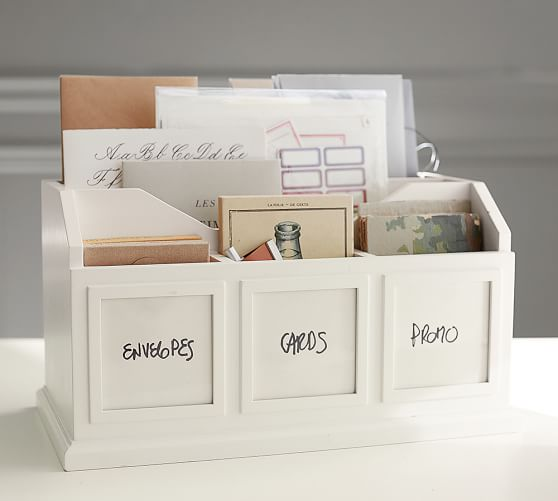 Bedford Photo Caddy, Antique White
