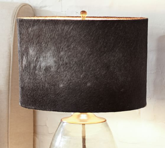 Pottery Barn Replacement Lamp Shades: Rhea Cow Hide Lamp Shade
