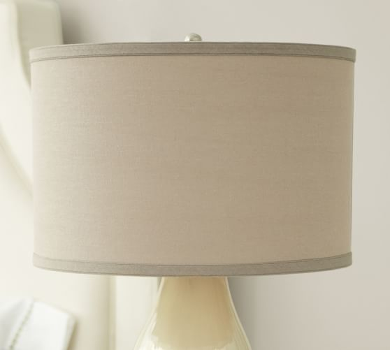 Side Wall Lamp Shades : Straight-Sided Linen Drum Lamp Shade Pottery Barn
