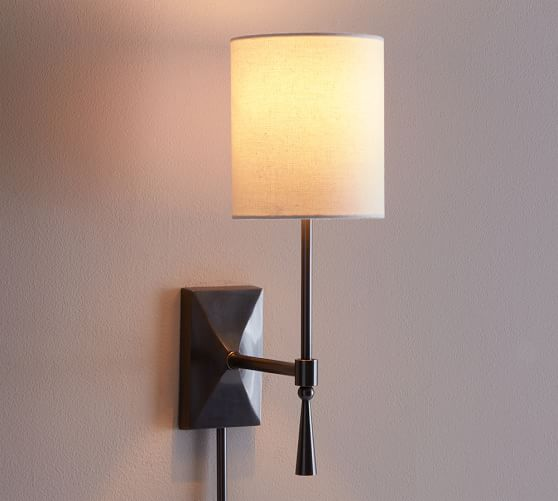 Wall Sconces Used : Rhodes Sconce Pottery Barn