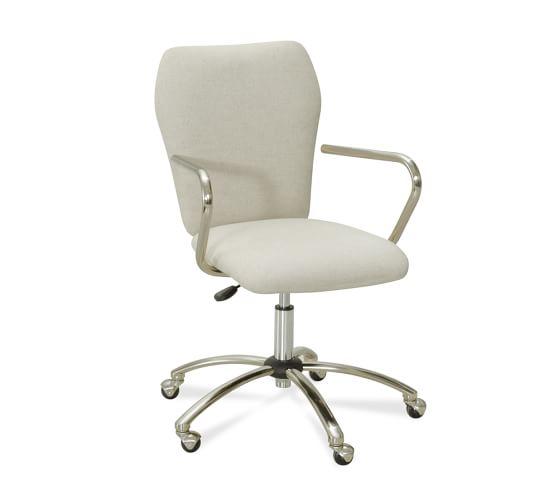 Airgo Swivel Desk Chair, Linen Oatmeal