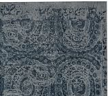 Bosworth Printed Rug Swatch, 18X18 inches, Blue