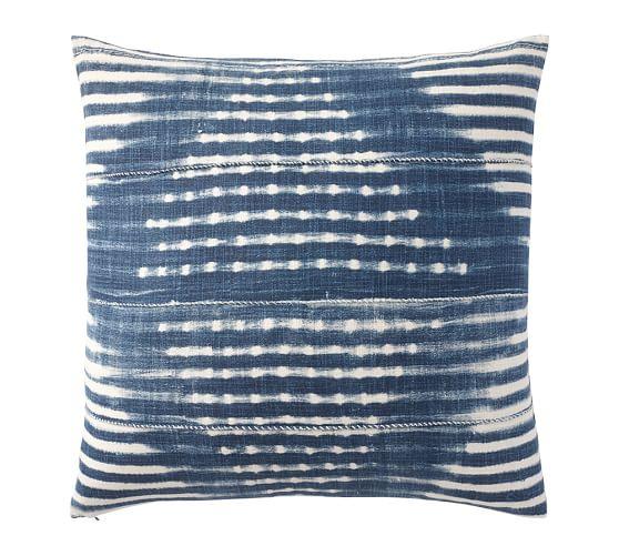Diamond Shibori Print Pillow Cover, 24