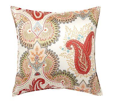 linden print silk pillow cover pottery barn. Black Bedroom Furniture Sets. Home Design Ideas