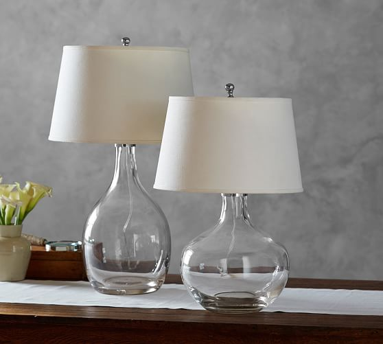 Pottery Barn Atrium Lamp: Grant Clear Glass Table Lamp