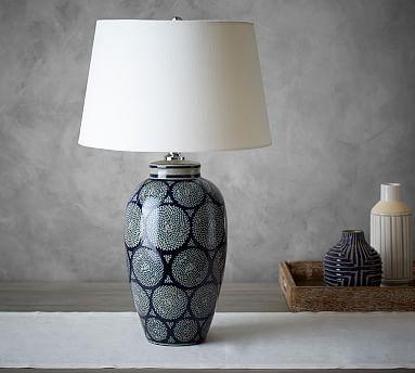 Langley Ceramic Vase Lamp Pottery Barn