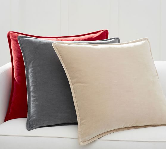 Washing Throw Pillows At Home : Washed Velvet Pillow Cover - 24