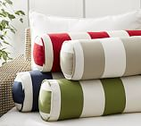 PB Classic Stripe Indoor/Outdoor Bolster Pillow, 7.5x24