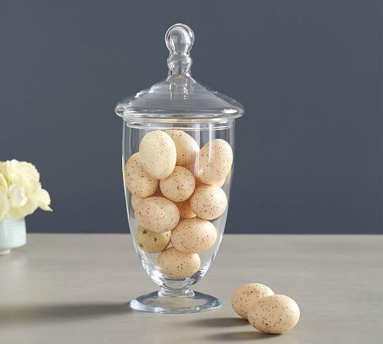Speckled Natural Egg Vase Filler, Set of 8